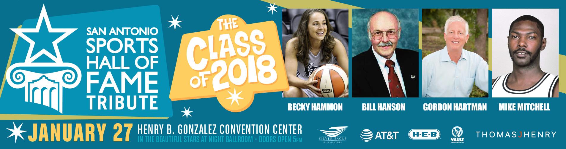 San Antonio Sports Hall of Fame Class of 2018
